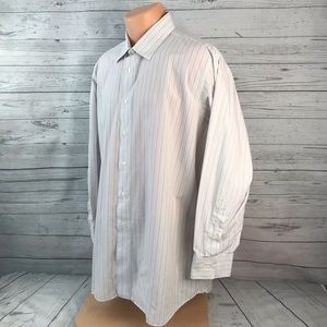 Tom James Dress Shirt Striped Long Sleeve 2E34